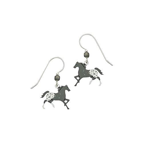 Artisan Sienna Sky Appaloosa-Horse Pendientes con caja de regalo