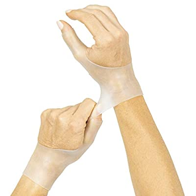 Vive Gel Thumb Wrist Support (Pair) - Hand Brace Cool Wrap For Arthritis Dequervains Tenosynovitis, Sprained Joint Pain, Left and Right Hand Stabilizer - Soft Comfort Splint For Tendonitis Strain