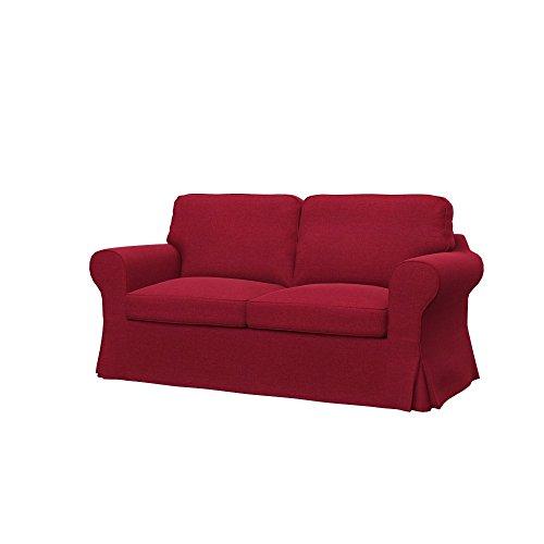 Soferia - IKEA EKTORP Funda para sofá Cama de 2 plazas, Classic Red