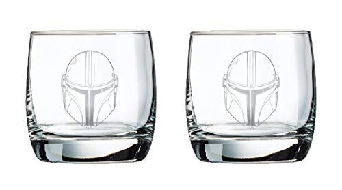The Mandalorian Glass Set - 10 oz Capacity - Classic Design - Heavy Base