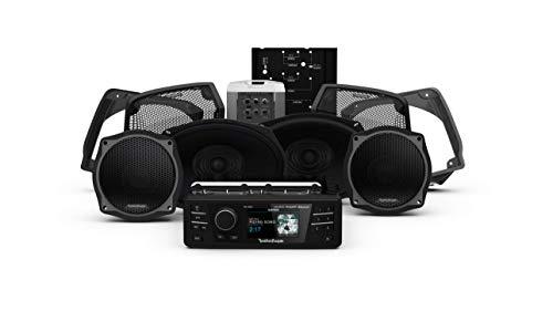 Rockford Fosgate HD9813SG-STAGE3 Digital Media Receiver, Four Speakers & Amplifier Kit for 1998-2013 Harley-Davidson Street Glide