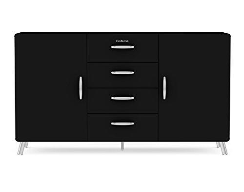 TENZO Sideboard, Holz, 92 x 163 x 43 cm, schwarz