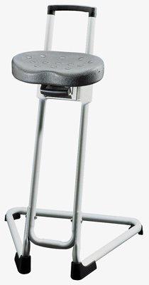 Stehhilfe, Sitz schwarz, Gestell lichtgrau, Sitzhö henverstellung 600-850 mm