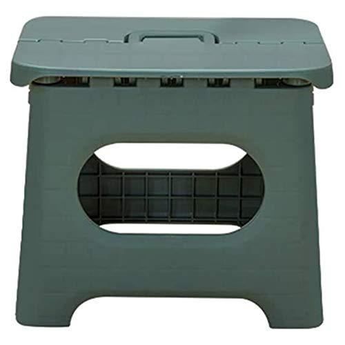 Yiyu Kunststoff Klappstuhl Einfachen Stuhl Erwachsenen Nach Hause Zug Mazar Klapp Kleine Bank Im Freien Tragbaren Angeln Hocker z (Color : Green)
