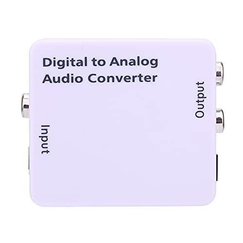 Weikeya Digital Audio Convertidor, CA 100-240V 50/60Hz Corriente Continua 5v 1 X Toslink, 1 X RCA