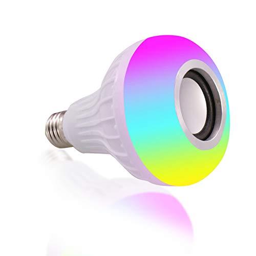 Bombilla de luz Bluetooth de música ligera LED - Altavoz inalámbrico con audio estéreo Radio E27 7 W LED RGB que cambia de luz...