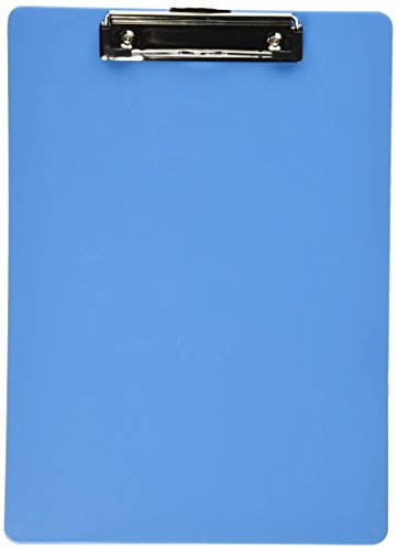 Officemate OIC Plastic Clipboard, Letter Size, Arctic Blue (83048)