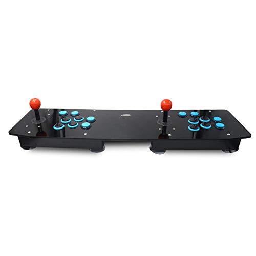 Juegos de Consola Retro del Juego de Arcade preinstalados All In One 16 Teclas Plug & Play Dual Edition - Azul y Negro