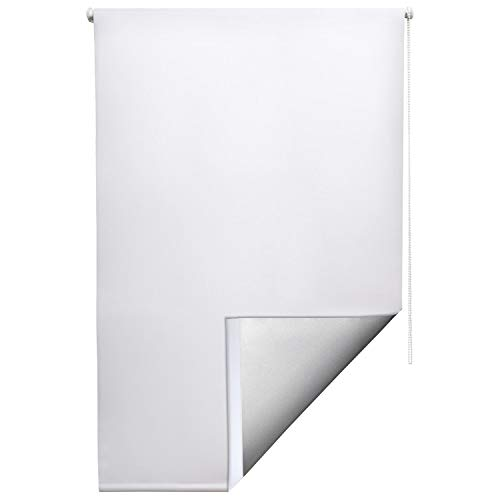 Sol Royal Sol Reflect T42 Persiana térmica Opaca Estor/Cortina Enrollable KLEMMFIX fijación fácil 70 x 210 cm Blanco