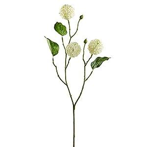 27″ Silk Snowball Flower Stem -Cream (Pack of 12)