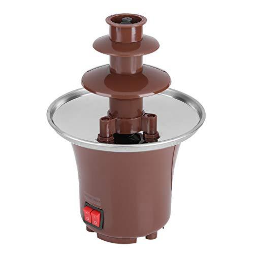 Victool Fuente de Chocolate, máquina eléctrica de Fuente de Chocolate de 3 Niveles Fondue Maker Uso doméstico Fiesta Cumpleaños
