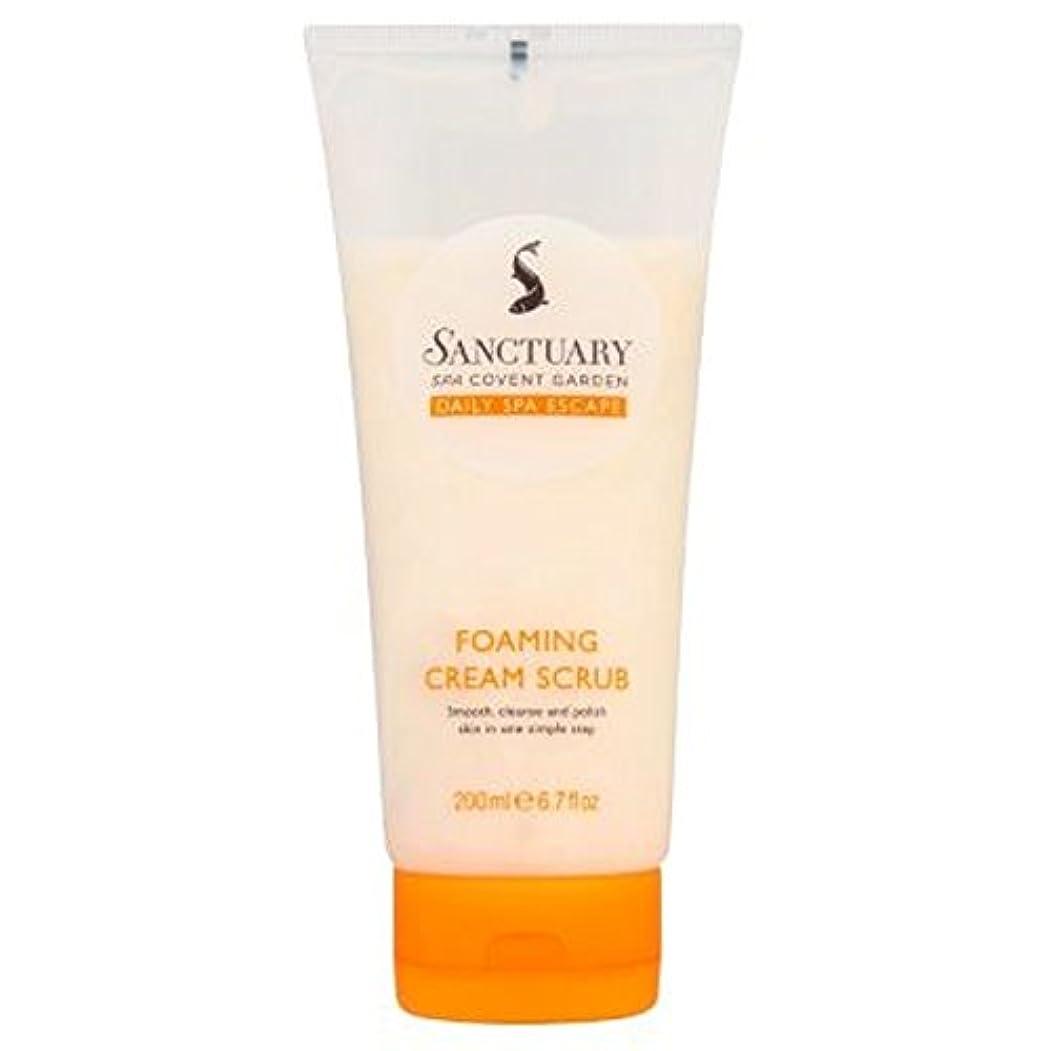 既婚苦難名目上の聖域発泡クリームスクラブ (Sanctuary) (x2) - Sanctuary Foaming Cream Scrub (Pack of 2) [並行輸入品]