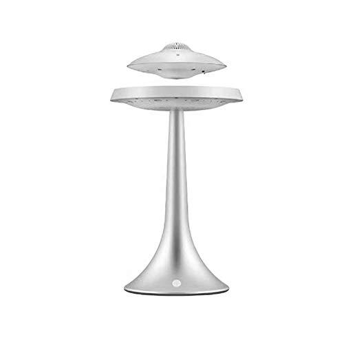 Youpin Stéréo lévitation magnétique Bluetooth Charge sans Fil UFO Vie sans Fil Haut-parleurs de Lampe Mode (Color : Silver)