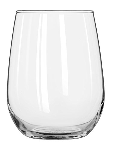 Libbey Glassware 221 Stemless White Wine Glass, 17 oz. (Pack of 12)