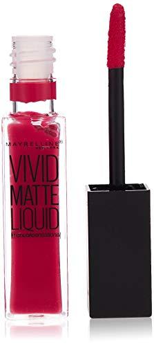 Maybelline New York - Color Sensational, Pintalabios Mate Vivid Matte Liquid, Tono 30 Fuchsia