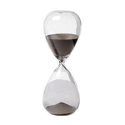 "30 Min. Hourglass Sand Timer Black 8"""