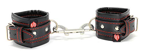 Gepolsterte Sex Handfesseln für Paare - Hochwertige ORIGINAL MySecretPleasure Handschellen/Sex Fußfesseln - Erotik Fessel Spielzeug - Hände und Füße fesseln - BDSM Bondage Fesseln