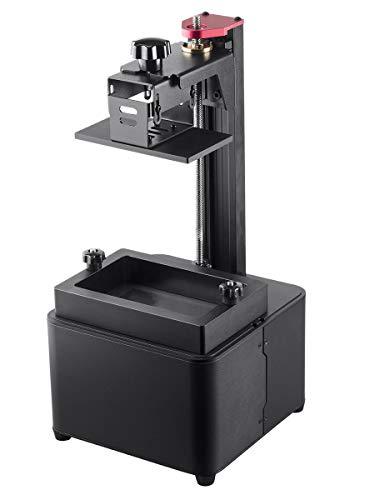 Monoprice Mini SLA Resin UV 3D Printer With (120 x 70 x 200 mm) Build Area, Ultra High Resolution + Free 250ml Red Photopolymer Resin
