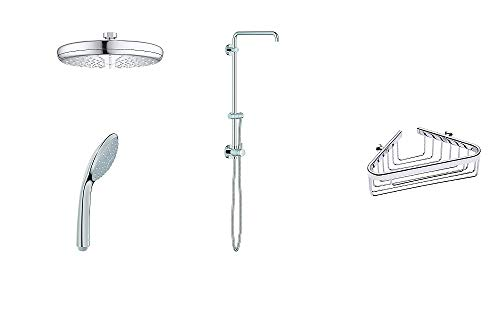 Grohe shower system with shower head, hand spray and basket (Shower System with Shower Head/Spray)