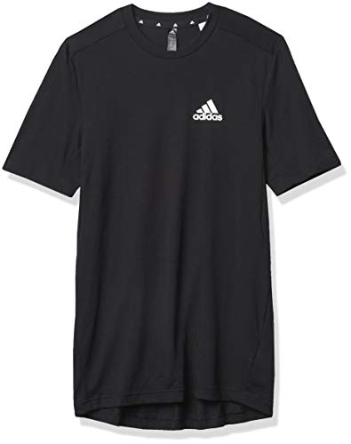 adidas mens FR Tee Black/White X-Large