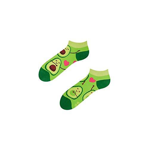 Avocado Love Good Mood Socken, niedrig, für Erwachsene, Größe 39–42