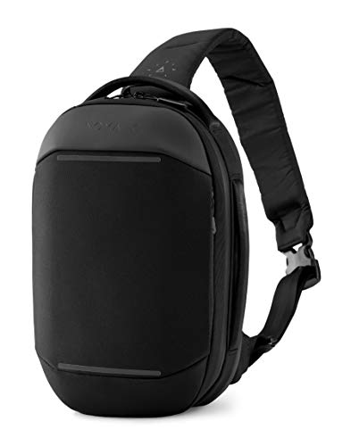 NOMATIC Navigator Premium Everyday Sling 6L (Black) | Crossbody Anti-Theft Sling Bag | Tech Organization, Water Resistant & Chord Passthrough- Everyday Minimalist Carry Bag