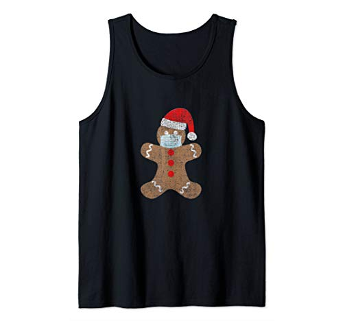 Gingerbread Man Face Mask Christmas Gift Social Distance Tank Top