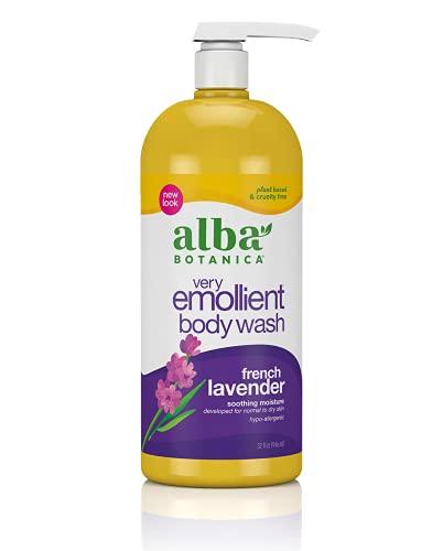 Alba Botanica Very Emollient Bath & Shower Gel, French Lavender, 32 Oz