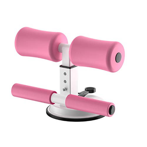 WM'SPARKLE Sit-up Aid,Sit-ups Assistant Device,Household Fitness Equipment for Abdominal Muscle Exercise Machine Portable Self-Suction Situp bar (Pink) 1