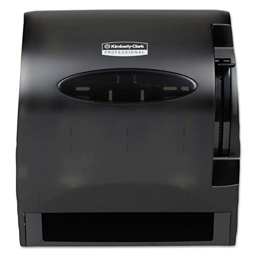 Kimberly-Clark Professional 09765 Lev-R-Matic Roll Towel Dispenser, 13 3/10w x 9 4/5d x 13 1/2h, Smoke