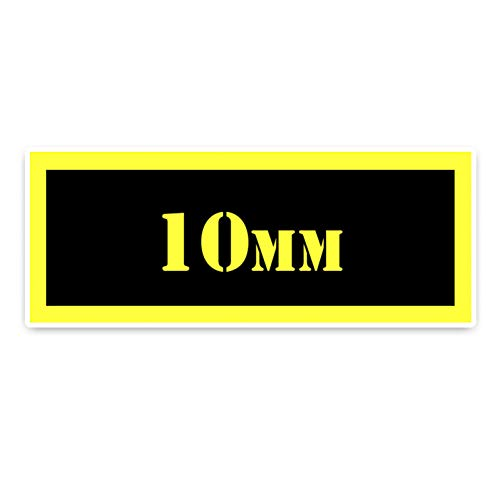 GKZMGR Autoaufkleber 15,3 * 6 cm Chromatische 10 Mm Munition Aufkleber Dekoration Auto Aufkleber PVC Zubehör