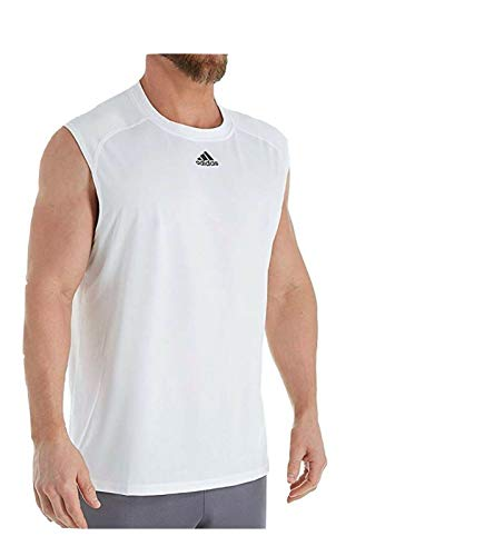 adidas Climalite Relaxed Fit Sleeveless Tank (2817) L/White