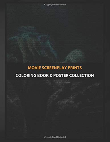 Coloring Book & Poster Collection: Movie Screenplay Prints The Shape Of Water Screenplay Movies