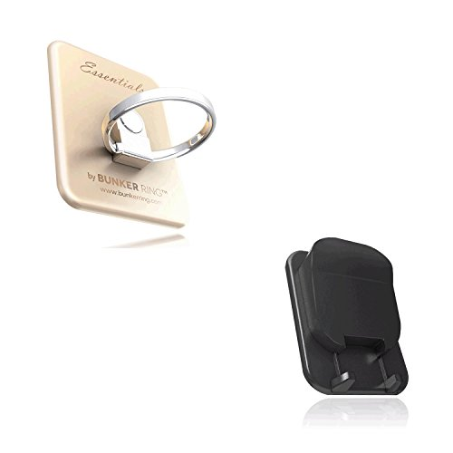 BUNKER RING Multi Holder Pack【車載ホルダー付】バンカーリング iPhone/Galaxy/Xperia/スマートフォン・タブレットPCを指1本で保持<落下防止+スタンド+車載ホルダー機能>(ゴールド ) BUMUGO