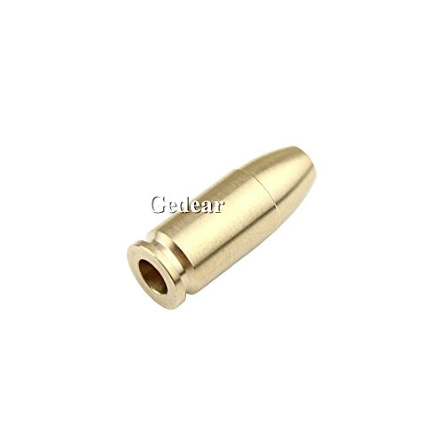 TIKING Bullet Shape Brass Knife Lanyard Bead EDC Zipper Pull 550 Parachute Cord Jewelry Bead Pendant (Brass)