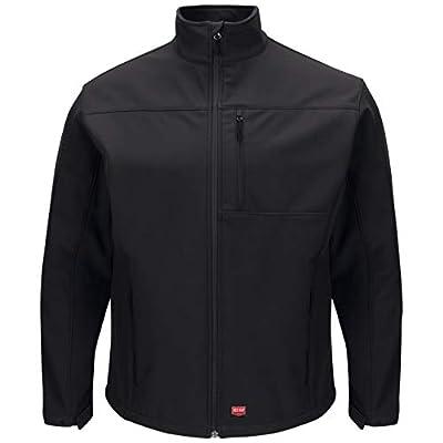 Red Kap Men's Deluxe Soft Shell Jacket, Black, Large from Red Kap Men's Apparel