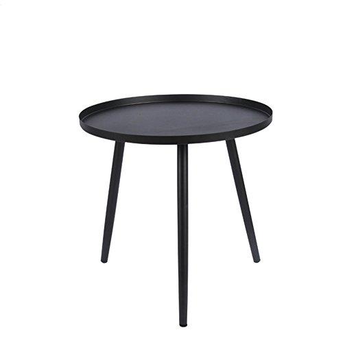 CSQ tafel, opklaptafel, salontafel, bijzettafel, bank tafel nachtkastje tafel schrijftafel dressoir tafel eettafel ijzer materiaal bijzettafel 36-46CM salontafel A Zwart