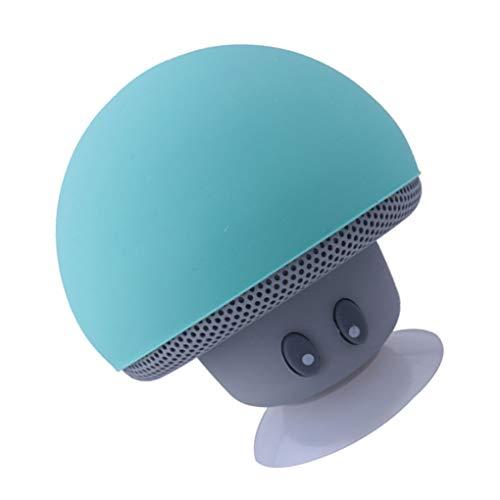 rongweiwang Altavoz Bluetooth Seta de Dibujos Animados Ventosa del Soporte del teléfono portátil Altavoces portátiles al Aire Libre pequeño Equipo de música