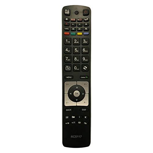 Ersatz TV Fernbedienung für Sharp Telefunken XF48B400 Fernseher