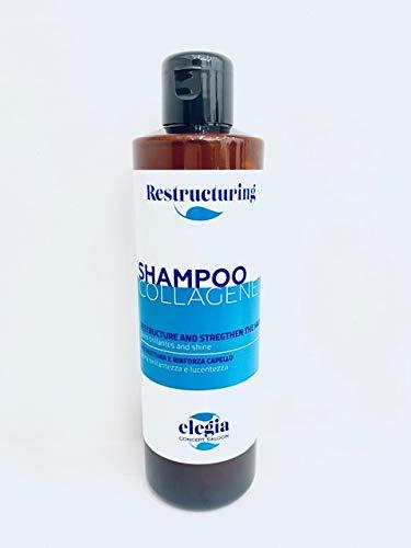 Shampoo al Collagene, Acido Ialuronico e Keratina, Volumizza, Infoltisce e Rivitalizza - Made In Italy - 250ml