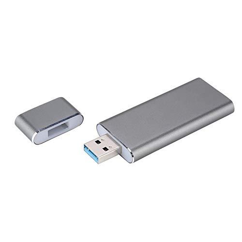 Jadpes Externes SSD-Gehäuse, Externes SSD-Gehäuse, tragbares 6019-RTK-U-Festplattentyp USB3.0 bis M.2 NGFF SSD Mobile-Festplattengehäuse