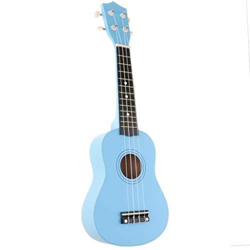 NC Kit de Inicio de Ukelele de 21 Pulgadas Vintage 4 Cuerdas Ukelele Principiante para Niños Guitarra Hawaii - Azul