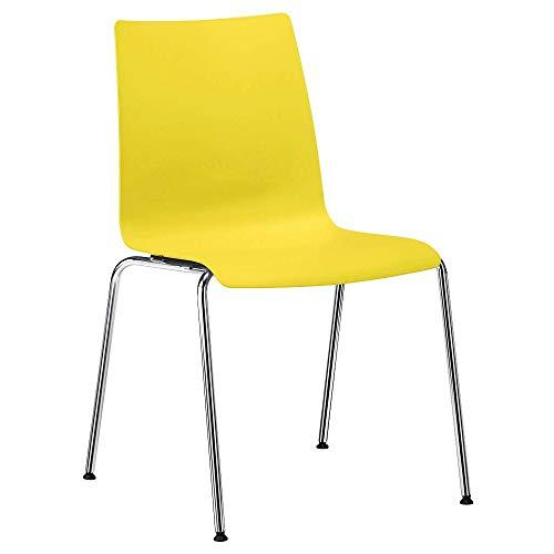 interstuhl Kunststoff Besucherstuhl gelb