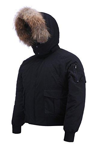 Arctic Residents Herren rocky entspannte winterjacke bomberjacke herren wintermantel x-large schwarz-2