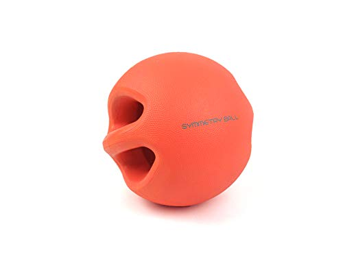 Smart Body Symmetry Ball 8Lb, Red – Patented Dual Handled Weighted Medicine Ball