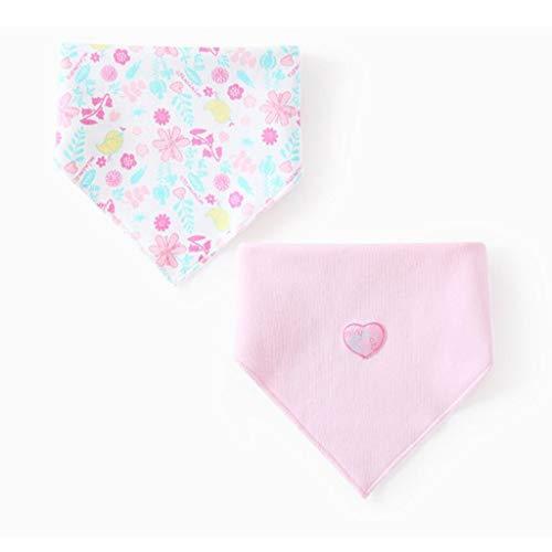 Reeseiy Living House Baby Triangle Bavoir Chic Casual Coton 0 2 Ans Taille Nouveau Né Double Printemps Et D'Été 2 Pc Ensemble (Couleur Bleu Taille 1 Ensemble) (Color : Pink, Size : 1 Set)