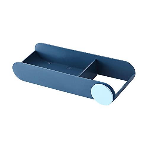 RYTR Secador de pelo multifuncional montado en la pared/Soporte para colgar en la pared/Sin perforación secador de pelo estante de almacenamiento para baño y inodoro