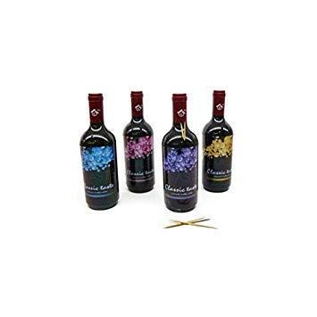 Lote de 30 Palilleros en forma de Botella de Vino - Detalles Originales Invitados de Bodas, Regalos Comuniones y Recuerdos para Cumpleaños Infantiles