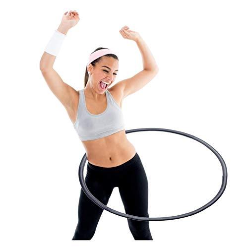 CYSHAKE Hula-Hoop 8 § Abnehmbarer Hoola-Reifen Weiche Fitness Sportreifen for Gewichtsabnahme Home Übungsgeräte Abnehmen Reifen for Fitnessstudio Gewichteter Fitness-Hula-Hoop