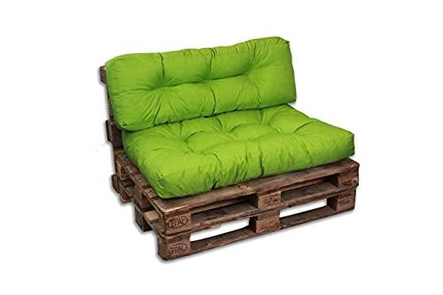 Cojines/colchón de Paleta, sofá, sillón, Asiento para Paleta Euro, Asiento (Verde, cojín 120 x 80 cm)